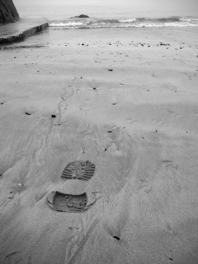 Footstep in the sand...