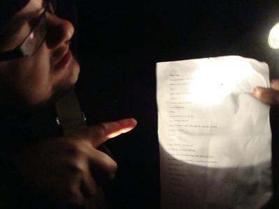 Getting direction from Matt Clark, writer and creator of Bracken Tor.