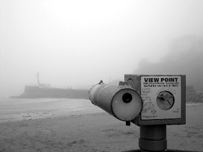 Nothing to see, nothing to hear...Looe Beach.