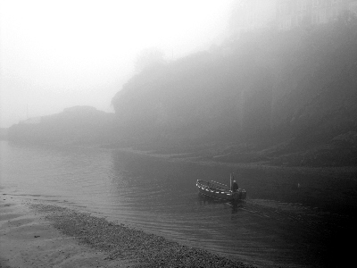 Dave The Ferryman...foggy May in Looe.