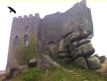 The Folly Castle At Carn Brea Was Once A Medieval Hunting Lodge High Above